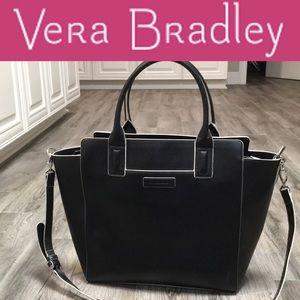 Vera Bradley black leather purse
